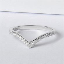 92.5 micro setting V shape customized available DIY silver ring  for women,silver 925 jewelry rings