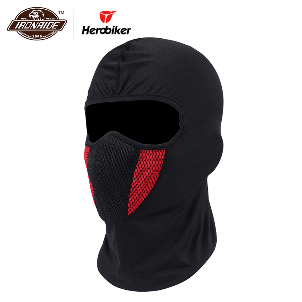 HEROBIKER Winter Balaclava Moto Gezichtsmasker Motorfiets Gezicht Shield Airsoft Paintball Fietsen Bike Ski Leger Helm Volgelaatsmasker