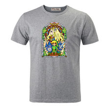 Legend of Zelda Stained glass  T-shirts short sleeves Brand Disign summer male Top Tees Fashion casual T-shirt for man
