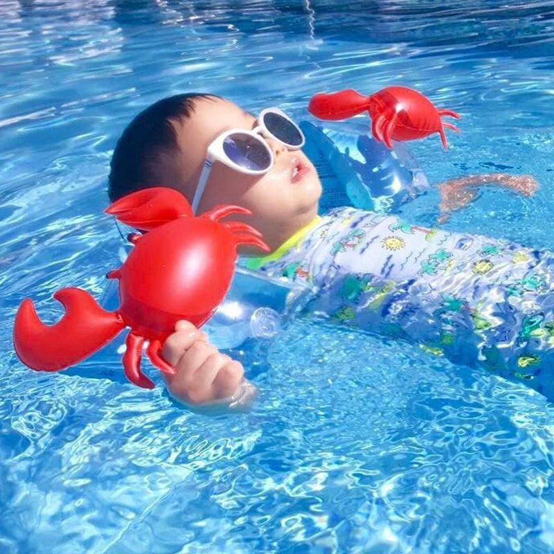 2017 PVC Swimming Arm Ring Crab Inflatable Arm Bands Floatation Sleeves Water Wings Swimming Arm Floats Toys for Children