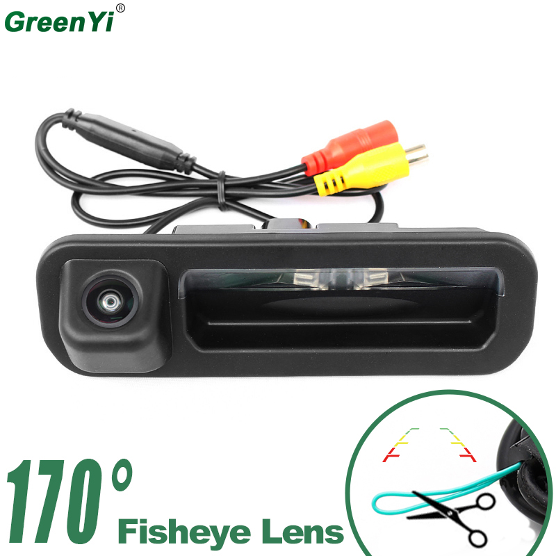 GreenYi 170 Degree Wide Angle Fisheye Lens Rear View Camera For Ford Focus 2012 2013 Focus 2 Focus 3 Vehicle Trunk Handle Camera