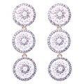 Elegant imitation pearl  earrings Gold plated round dangle earrings long earrings for women free gift box