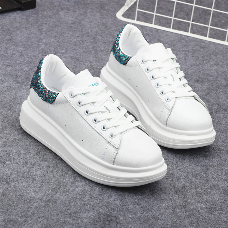 New Fashion Vulcanize Shoes Trainers Women Sneakers Casual Shoes Basket Femme PU Leather Tenis Feminino Zapatos Mujer Plataforma 74
