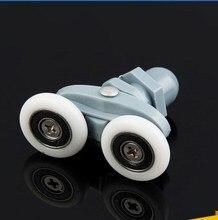 8PCS Twin Shower Door Rollers/Runners 19/23/25/27mm Wheels Diameter Bathroom Door Runners Sliders Wheels Double wheel