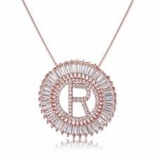 Для женщин Подвески Ювелирные изделия 26 подвески-буквы и высококачественные ожерелья из металла круглые цепи ожерелья Элегантный подарки влюбленным Кольер CN003