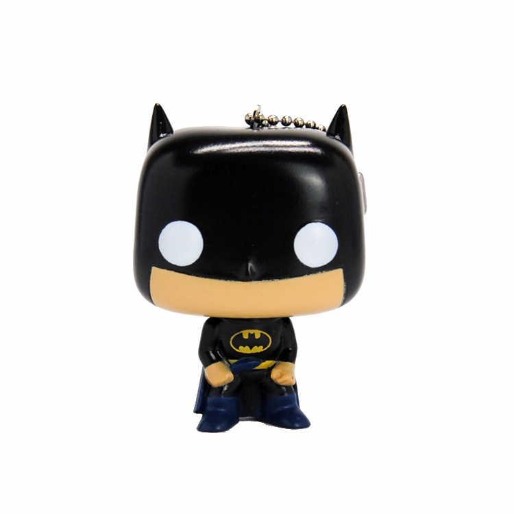 أنيمي أعجوبة المنتقمون الكرتون الرجل العنكبوت باتمان الرجل الحديدي الكابتن الأمريكية الشكل الموجبة لعبة سوبر hero نموذج دمية حقيبة قلادة