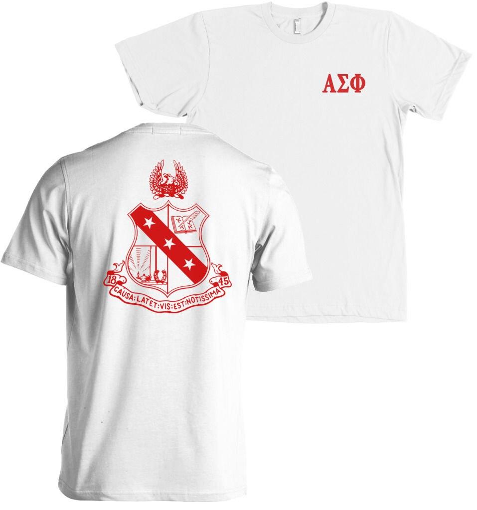 2019 Fashion Casual Men T shirt Alpha Sigma Phi Fraternity ...