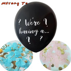 1lot 36 inch big size We're having a... Gender Reveal latex balloons blue pink Confetti Latex air Balloon for baby shower