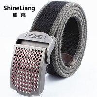Shineliang 도매 전술 벨트 군사 캔버스 폭 3.8 센치메터 높은 품질의 디자이너 비즈니스 청소년 브랜드 청바