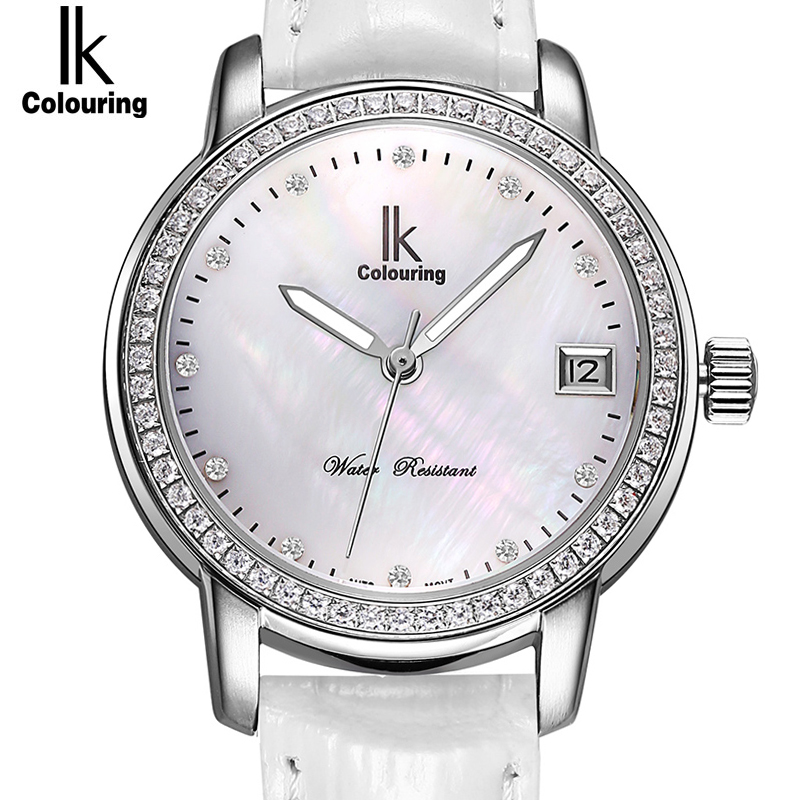 IK Mechanical Watch Women white Famous Brand Sapphire Skeleton Automatic Self-Wind Watches Ladies Fashion Rhinestone Wristwatch women favorite extravagant gold plated full steel wristwatch skeleton automatic mechanical self wind watch waterproof nw518