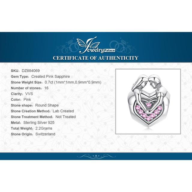 Pink Sapphire Love Charm