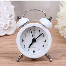 Mini Round Alarm Clock Desktop Table Bedside Clocks Kids Adults Travel Clock Decor Lovely Cartoon Alarm Clocks Dial Number Round(China)