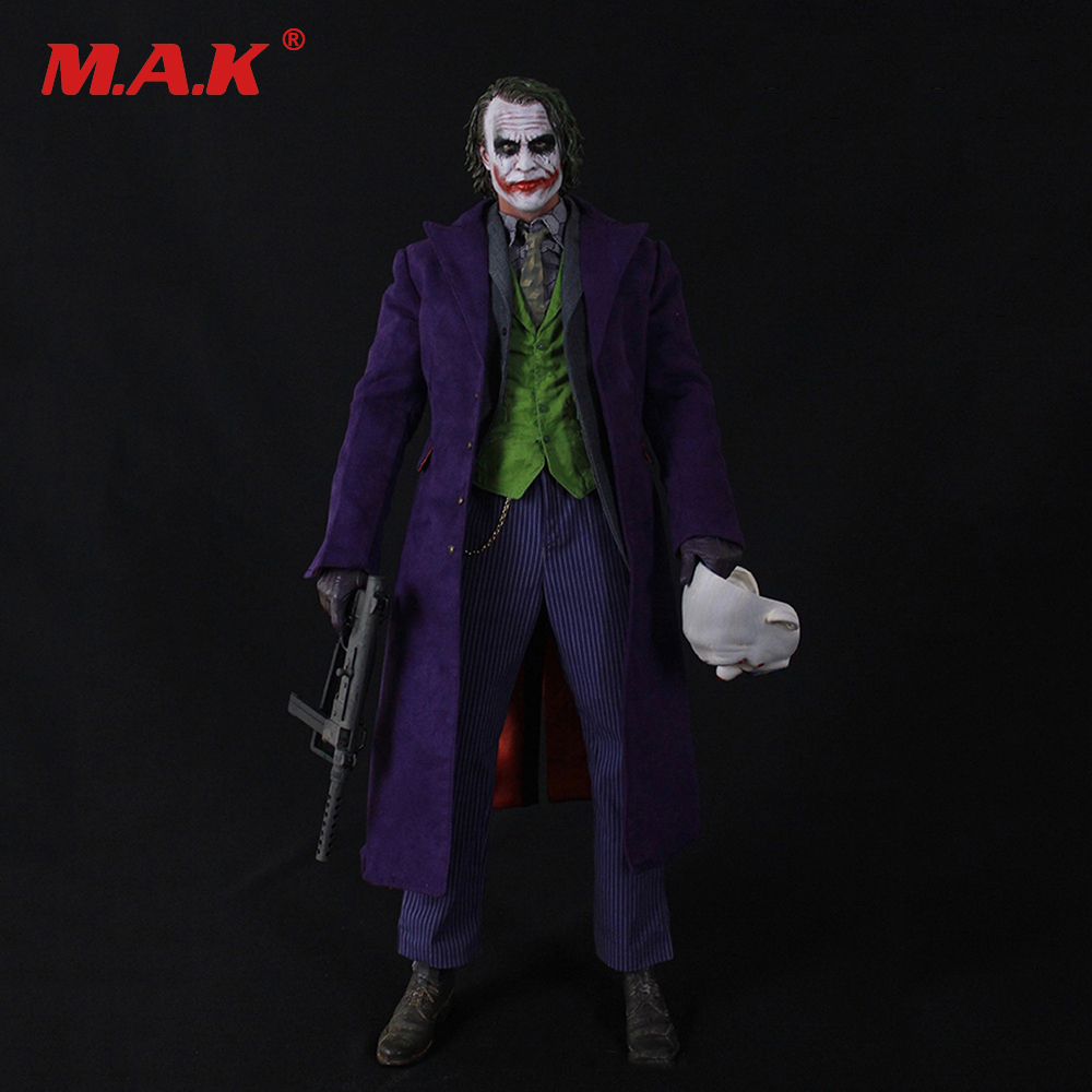 1/4 Scale Joker Heath Ledger Head & Clothes Set DIY Action Figure Accessories 1 6 batman joker heath ledger mask headsculpt for 12inch doll parts body clothes and body are not included