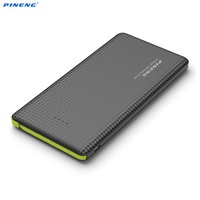 Original PINENG Power Bank 10000mAh Ultra Slim Dual USB External Backup Battery Powerbank For Mobile Phone