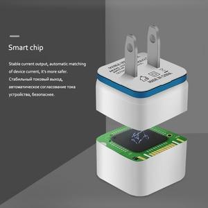 "Image 5 - 5 V 2.1A כפולה USB יציאות בארה""ב האיחוד האירופי Plug AC קיר מטען אוטומטי מהיר טעינת כוח מתאם עבור iPhone X 7 8 XS Xsmax סמסונג Huawei P30"