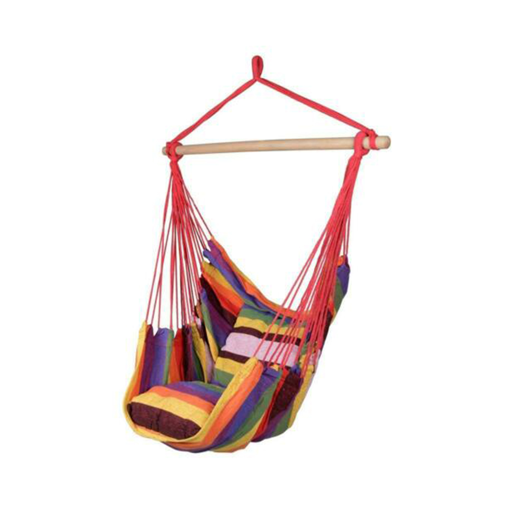 Hammock Chair Hanging Chair Swing Chair Seat For Indoor Outdoor Garden 2019 New(not Include The Wooden Stick And Metal Frame )