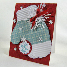 Eastshape Christmas Gloves Metal Cutting Dies Scrapbooking Winter Snowflake for Celebrate Craft Frame Cut Card Making Album