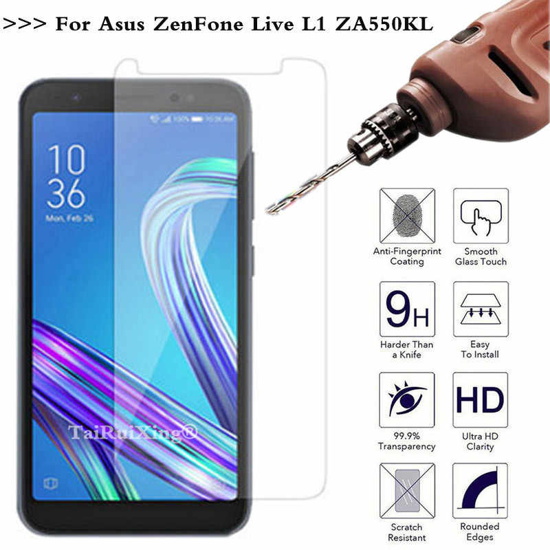 2.5D 0.26mm 9H Tempered Glass Screen Protector For ASUS Zenfone Live L1 ZA550KL Toughened Protective Film For Zenfone Live L1