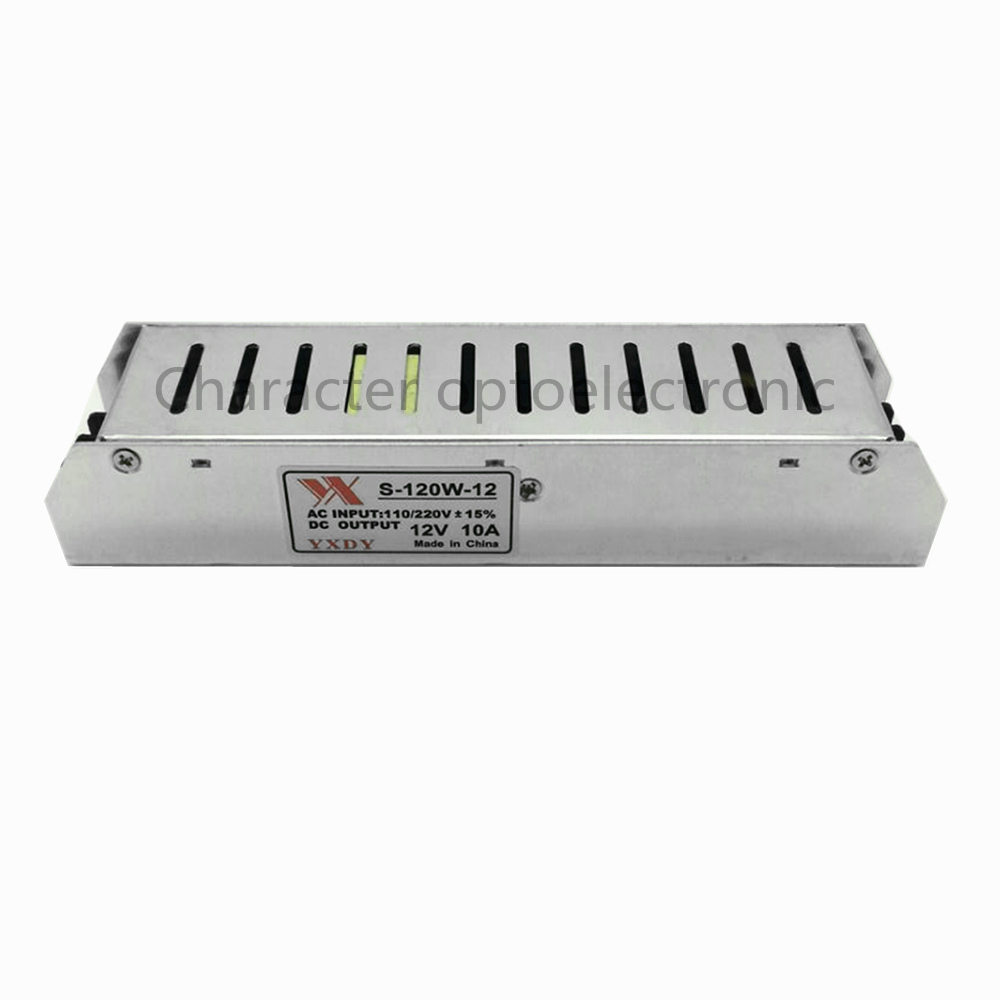 Transformateurs d'éclairage LED Conducteur AC85-265V DC12V 10A 120 W Adaptateur secteur 10A pour LED Bande Lumière Conducteur D'alimentation d'énergie de Commutateur