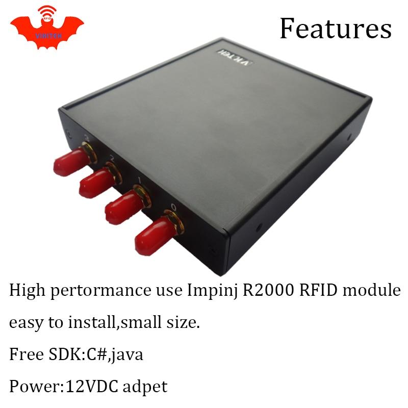 UHF RFID lugeja 915MHZ impinj R2000 4 antenni pordi fikseeritud - Turvalisus ja kaitse - Foto 5