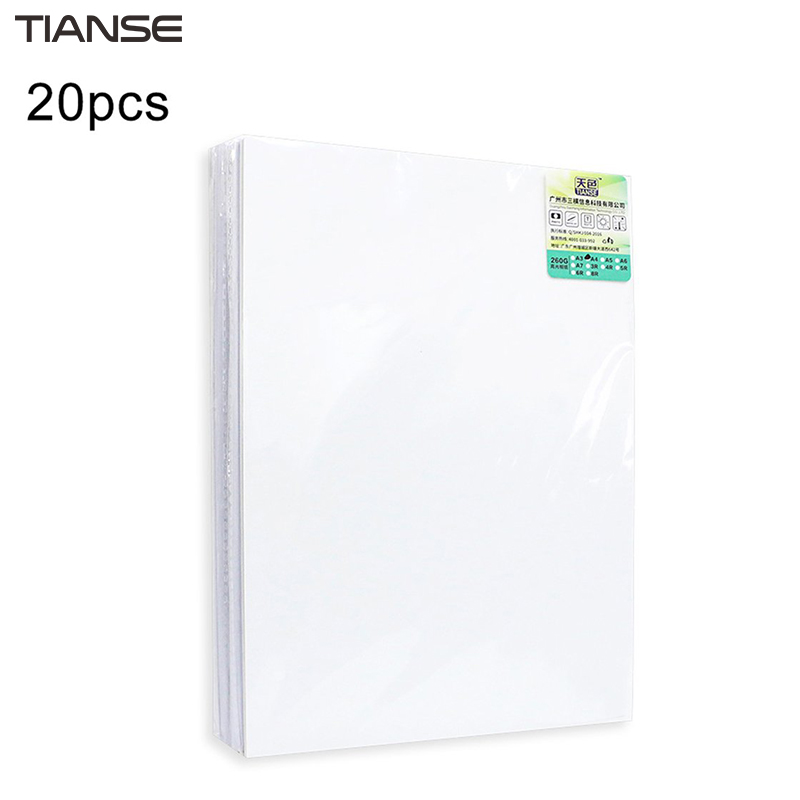 TIANSE High Glossy Photo Paper Color Inkjet Printing Paper A4/ A5/ A6 Photo Paper 180g/ 200g/ 230g/ 260g Waterproof