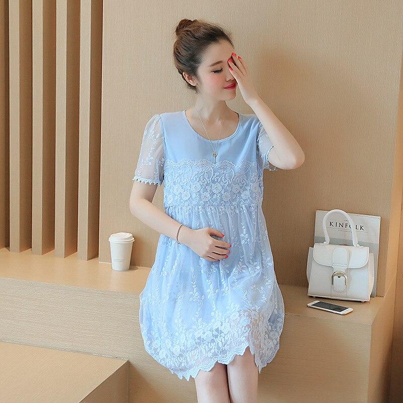 6a0776015ee7 845.87 руб. 41% СКИДКА|Одежда для беременных весна лето для беременных  кружевное ...