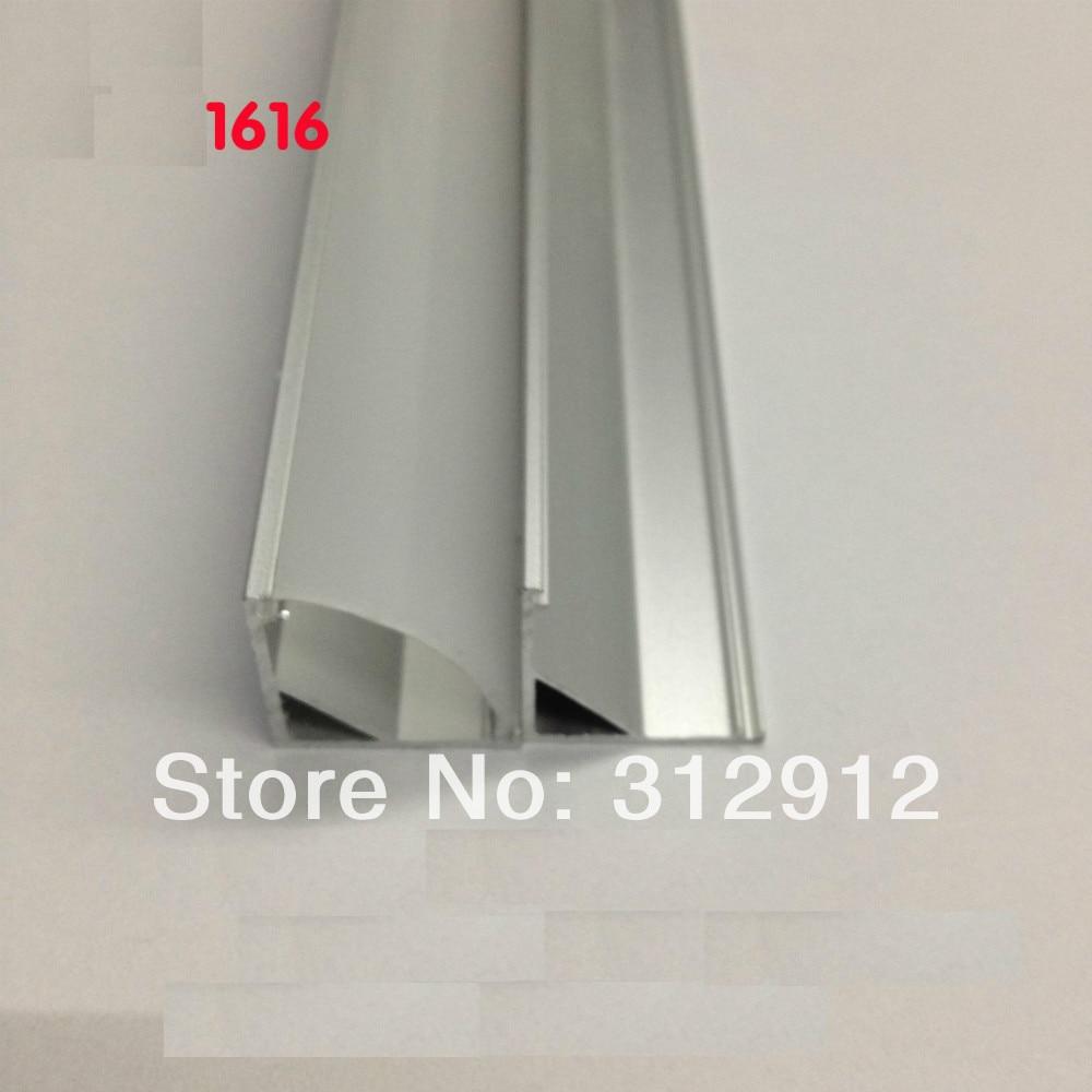 RA 1616; 1 Mt lange LED aluminium profil (eloxiert silber farbe) mit ...