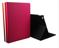 ZP Fashion  Luxury Filp Genuine Leather  Book Case For Apple iPad Air 2 Air2 iPad 6 Smart  Protective Skin Case With Stand