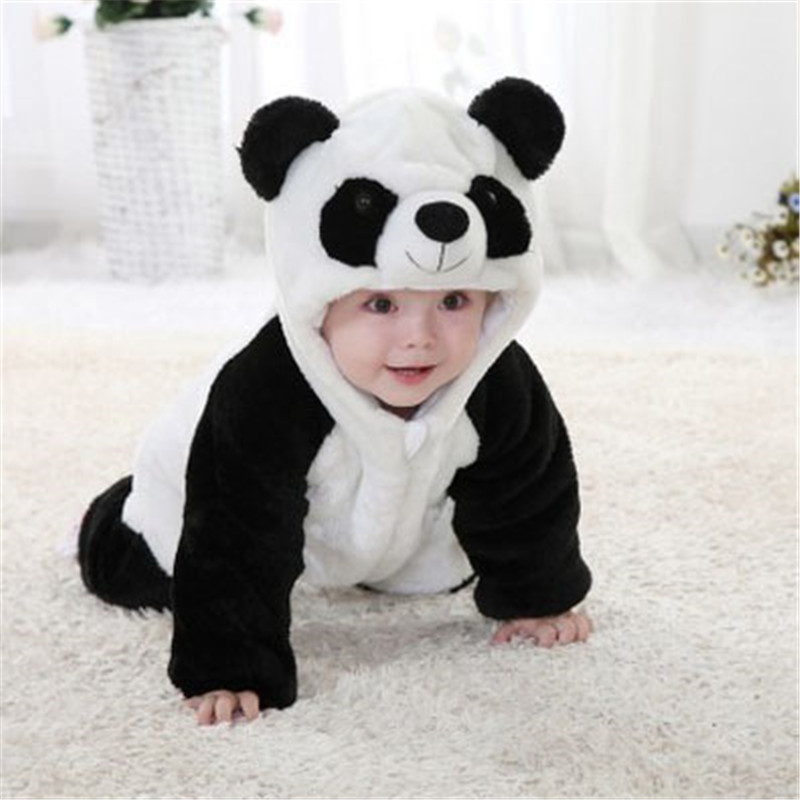 KAVKAS Baby Boy Clothes Cotton Baby Rompers Baby Girl Clothes Newborn Baby Clothes Roupas Bebe Cartoon Panda Infant Jumpsuits