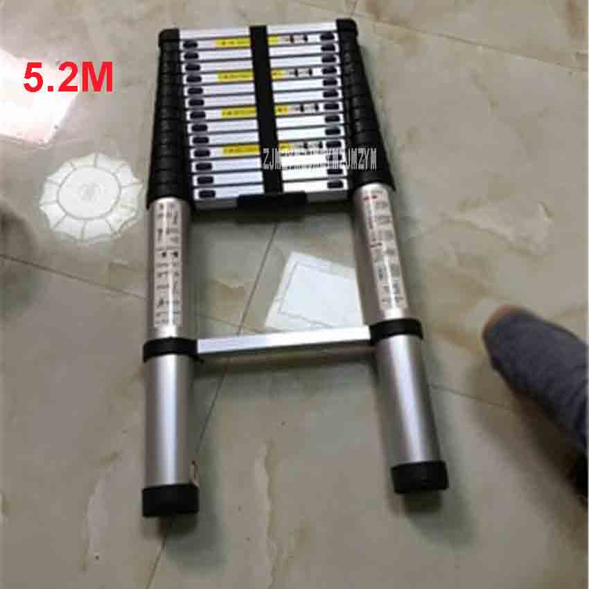 New 5.2M Extension Ladder DLT-A Aluminum Alloy Thickened Straight Ladder 15-step Single-sided Ladder Folding Engineering Ladder