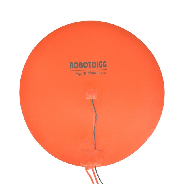 400mm 12V DC round flexible silicone heater pad