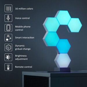 Image 5 - Lifesmart DIY Quantum Night Light Geometry Assembly USB Night Lamp Smart App Voice Control For Google Home Alexa Lamp