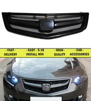 Radiator grille case for Honda Accord 8 2008 2012 sport style face ABS plastic decor design styles car styling car accessories