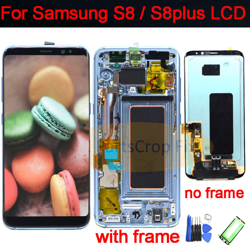 For Samsung S8 LCD with Frame Replacement for SAMSUNG Galaxy S8 Plus LCD G955 S8 G950