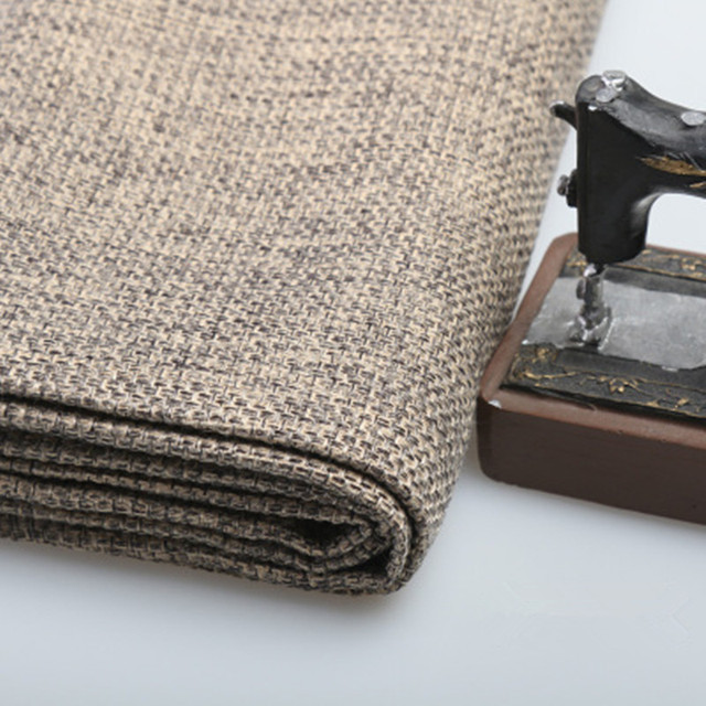 1 meter thick rough linen fabric sofa cloth hand bag cushion covers
