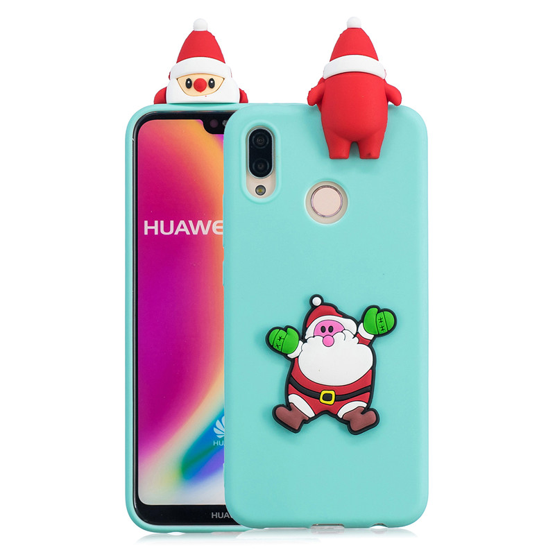3D Soft Silicone TPU Case For Huawei Mate 20 Lite Santa Claus Deer Christmas Case For Huawei Mate 10 P20 Pro P10 P9 P8 Lite 2017