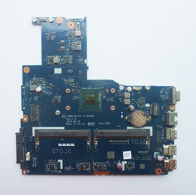 Free Shipping New LA-B102P B50-30 Motherboard for Lenovo B50-30 Laptop with intel N2830 CPU