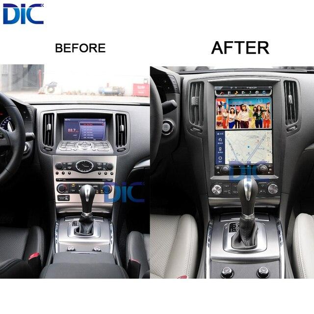 7.1.1 sistema Android 2g 32g tela vertical car styling navegação mp3 gps multimedia player do carro Para Infiniti G25 g35 G37