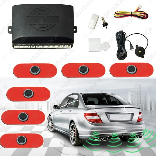 Car 6pcs Original Sensors 16.5mm Reverse Backup Radar 2 Front 4 Rear Beep Alarm Parking Sensors #J-1358