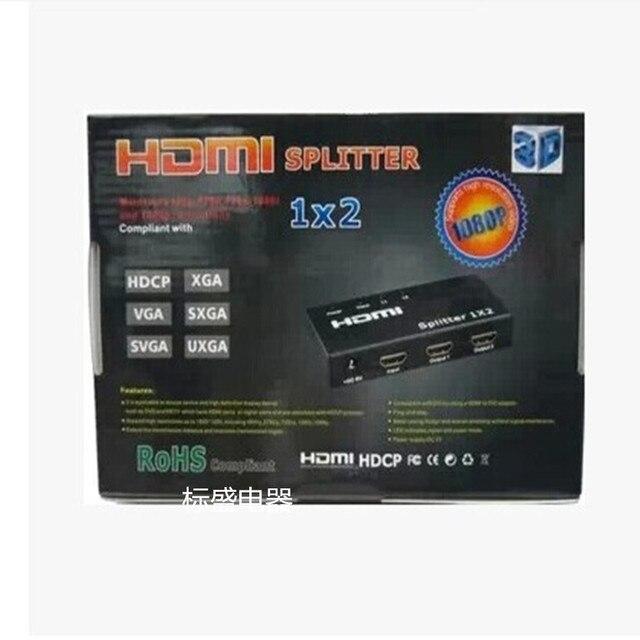 HDMI splitter switcher 1 en 2 en 2 hd 1080 p de alta claro 3d