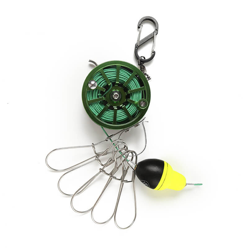 Telescopic Fishing Reel Line Scale Grip Fish Lock Catch Buckle Portable Waist Fish Shackle Scale Saltwater