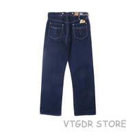 Мужской облегающий джинсовый комбинезон цвета индиго синего цвета с пряжкой на спине BOB DONG