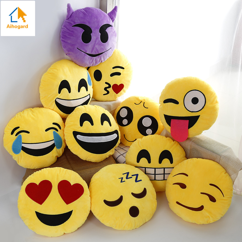 d788306472 Image Hot Sale Lovely QQ Emoji Smiley Emoticon Home Cushion Plush Soft  Pillow Stuffed Doll Toys