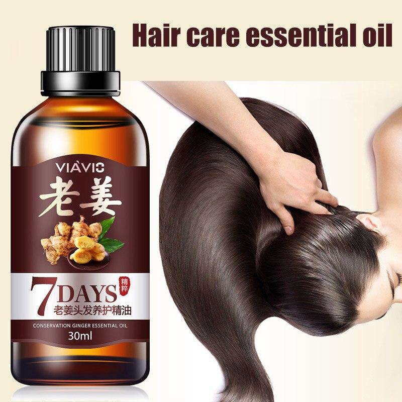 30ml Ginger Hair Care Liquid Restoration Hair Loss Treatment Liquid Dense Essential Oil Ha
