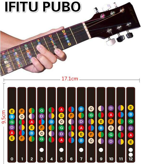 guitar fretboard notes labels sticker fingerboard fret decals for 6 string acoustic electric. Black Bedroom Furniture Sets. Home Design Ideas