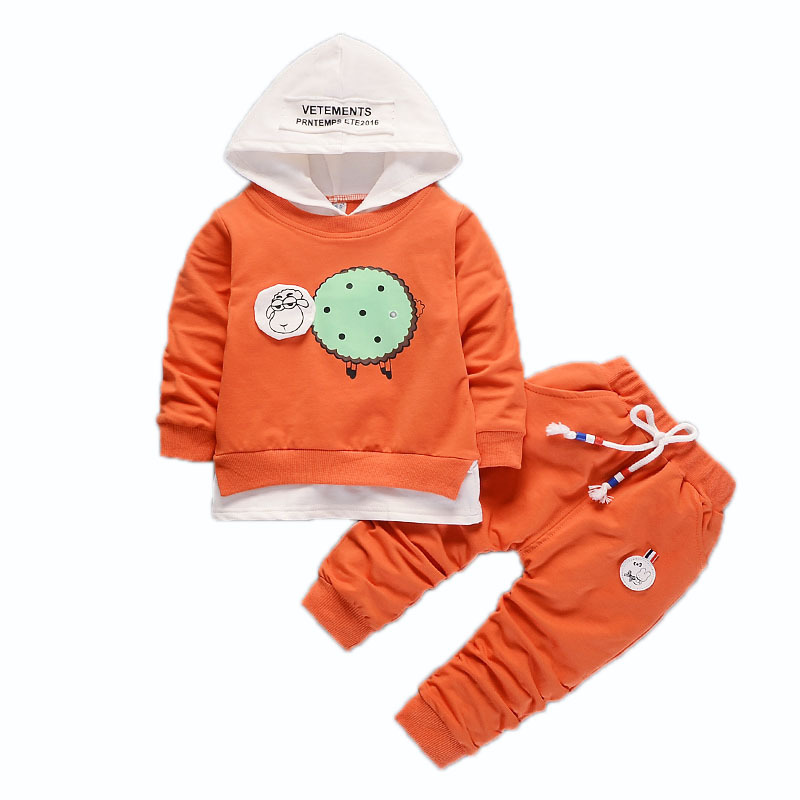 Spring Autumn Children Boy Girl Clothing Suits Cartoon Sheep Baby Hoodies Pants 2Pcs/Sets Kids Fashion Clothes Toddler Tracksuit