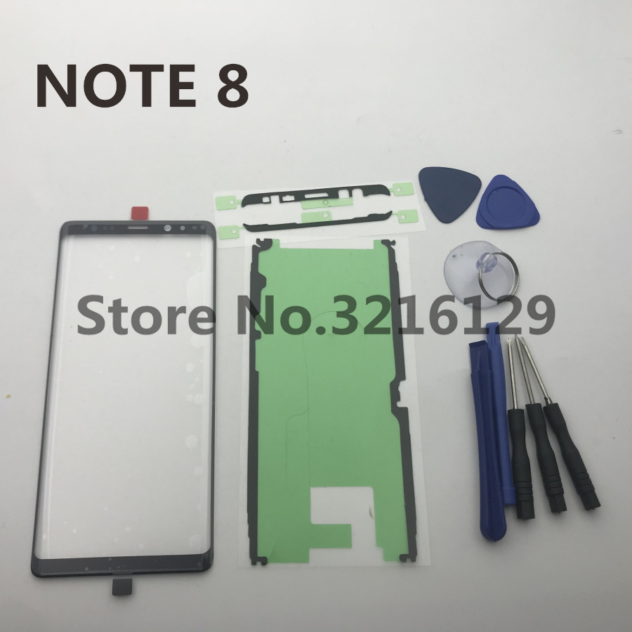 Original note8 new Front Outer Glass Lens Touch Screen Replacement for Samsung Galaxy Note 8 N950 N950F+Repair Tools & Adhesive