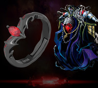 Anime Devil Satan Ring S925 Sterling Silver Rings Demon Finger Rings Adjustable Jewelry Costume Gift For Men