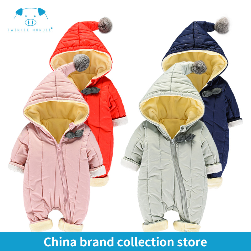 [PlayFul100]romper newborn baby clothes baby winter rompers infant Newborn Baby Girls Boys Clothes Long sleeves Hooded MD160D090 2016 autumn baby rompers boys girls long sleeves jumpsuit 100% cotton infant romper newborn overall kids striped fashion clothes