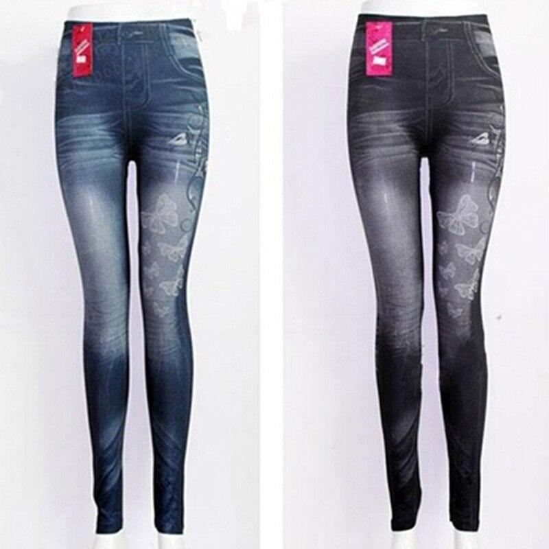 Slim Women   Leggings   Butterfly Printing Leggin Skinny Jeans   Legging   Female Casual Denim   Legging